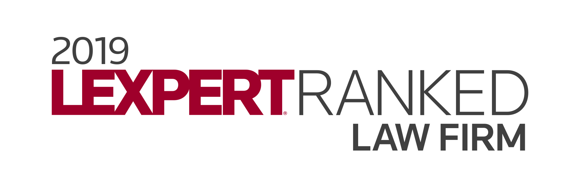 Lexpert Directory 2019 Ranked Law Firm Logo